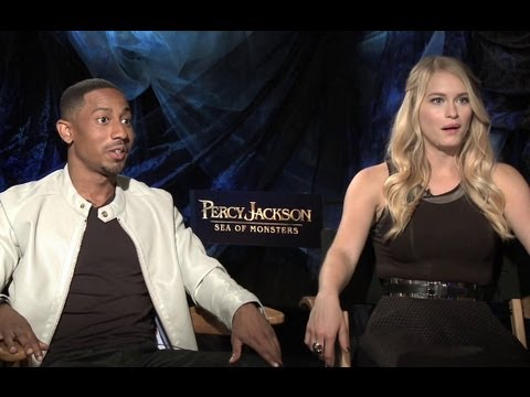 Brandon T. Jackson & Leven Rambin Interview - Percy Jackson: Sea of Monsters (JoBlo.com)