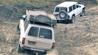 Toyota Land Cruiser 80 vs Nissan Patrol GQ offroading 4wd 4x4