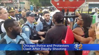 Police, Protesters Clash In Chicago Following Fatal Shooting Of Black Man