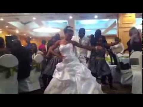 Bevis and Mutale's exit dance at their incredible wedding in Zambia. For all those asking the track is Grippe Aviaire by DJ Lewis. For more on the bride Muta...