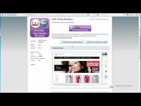 Instalar Pack Tienda Webempresa con cPanel