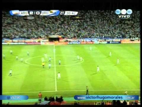 Argentina 3 Uruguay 0 (Relato Victor Hugo) Eliminatorias Brasil 2014 Los goles (12/10/2012)