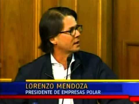 Lorenzo Mendoza en la Conferencia de Paz
