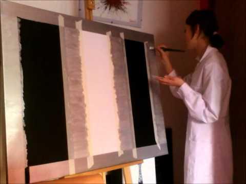 Pintando un cuadro sencillo y moderno youtube for Pinturas para interiores colores modernos