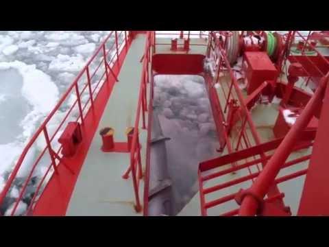 20150301 【前面展望】流氷原を行くガリンコ号II@紋別沖