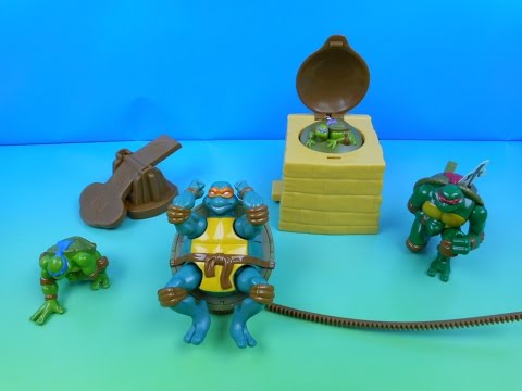 2006 TEENAGE MUTANT NINJA TURTLES IN ACTION SET OF 4 JOLLIBEE KID'S MEAL TOY'S VIDEO REVIEW