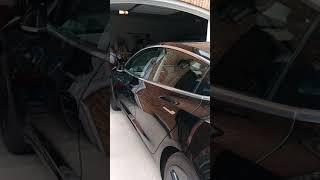 Self Driving car into a garage
