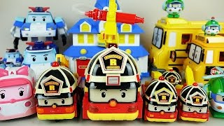 Robocar Poli Roy fire car and Tayo bus toys
