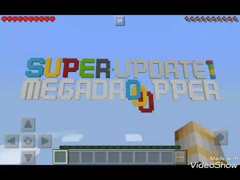 First minecraft pe video | super mega dropper update 1 part 1