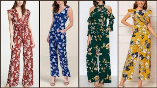 Latest Stylish Beautiful And Trendy Floral Print Jumpsuits Design 2020 Collection