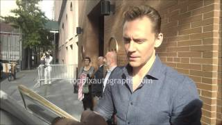 Tom Hiddleston - SIGNING AUTOGRAPHS while promoting