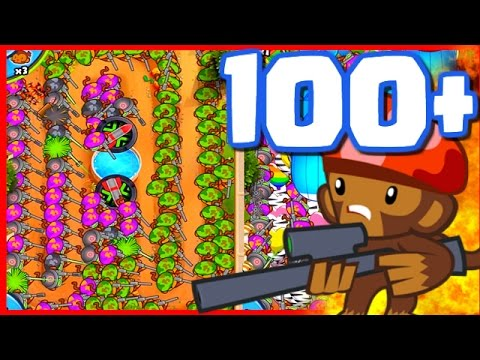 Bloons TD Battles - 100+ SNIPER TOWERS! - Bloons TD Battles Strategy Late Game With Snipers!