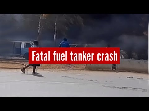Upto 70 fatalities: Fuel taker smashes into bus station, Nigeria