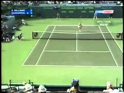 [HL] Maria Sharapova vs. Serena Williams 2004 Miami [R4]