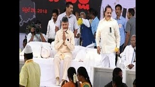 CM Chandrababu Naidu's one day fast against Centre | TDP Leaders face to face with ABN