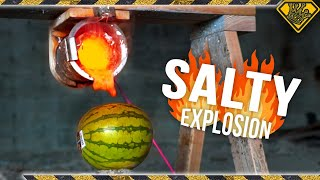When Molten Salt hits a Watermelon