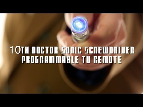 10th Doctor Sonic Screwdriver Exclusive Programmable TV Remote from ThinkGeek
