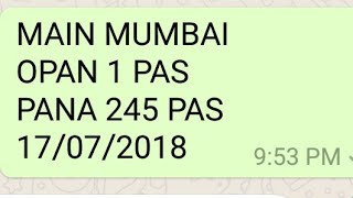 17-07-2018 Main Fixx Single  open ++ Jodi strong trick ke sath 💪💪💪kalyan 02/07/2018 , kalyan ot
