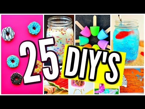 25 DIY PROJECTS YOU NEED TO TRY BEFORE SCHOOL STARTS