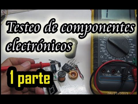 Testeo de componentes electronicos. testing of electronic components