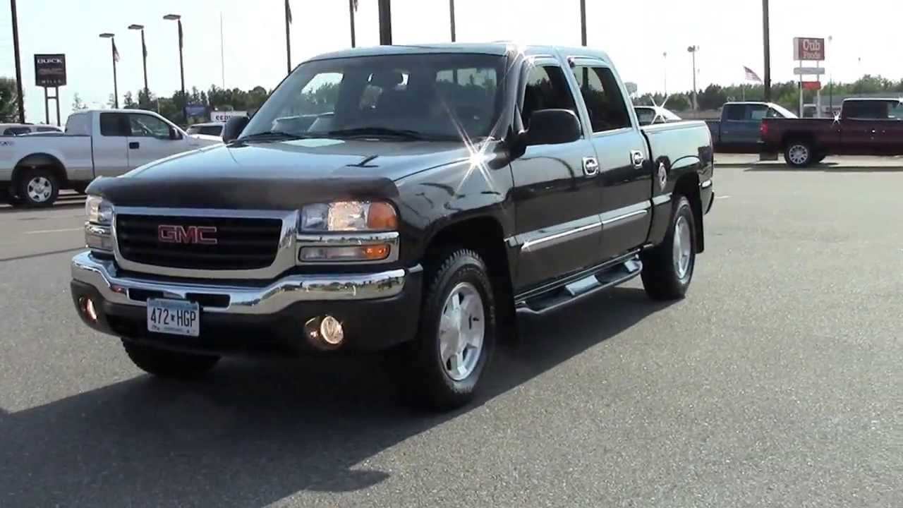2004 gmc sierra 1500 crew cab 4wd sle youtube. Black Bedroom Furniture Sets. Home Design Ideas