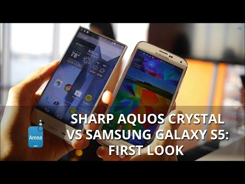 Sharp AQUOS Crystal vs Samsung Galaxy S5: first look