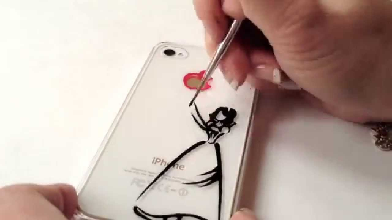 Case Design clear phone case diy : Drawing on iPhone Case: Disney Snow White - YouTube