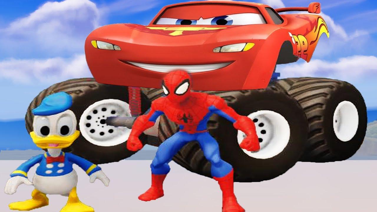 Spiderman bajki - Auta bajki dla dzieci po polsku - Samochody bajki dla dzieci - Monster truck bajka