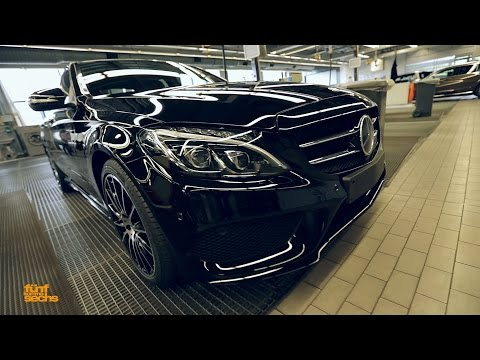 """Maiden Trip: """"Unboxing"""" a factory-new C-Class W205 / Part 1 (German)"""
