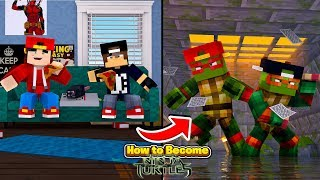 Minecraft Adventure - HOW TO BECOME TMNT!