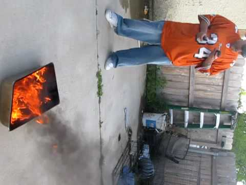 jason taylor signs with Jets. burning his jersey Video