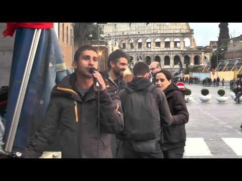 3.12-Tiziano laboratorio romano dello #scioperosociale dopo cariche al corteo contro il #jobsact