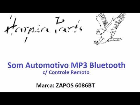 Som Automotivo MP3 Bluetooth USB SD FM AUX EQ - Preto Liso