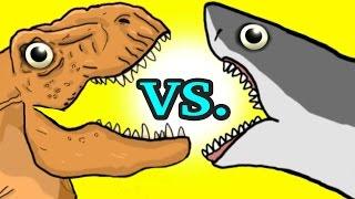 """""""My Cute Shark Attack Cartoon #11 (Shark Spider vs. Dino Cannon!! +BEST OF!!) kids cartoons!"""