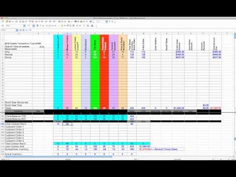 2012 Cookie Spreadsheet Tutorial