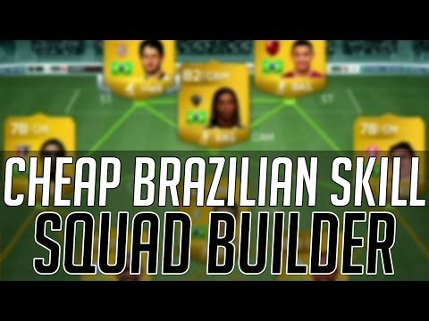 THE AFFORDABLE BRAZIL SKILL SQUAD (CHEAP)   FIFA 14 Ultimate Team Squad Builder (FUT 14)