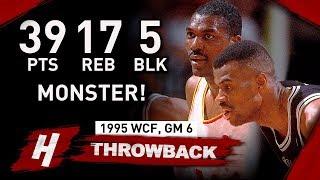 Hakeem Olajuwon DESTROYS MVP Robinson! Full Game 6 Highlights vs Spurs 1995 WCF - EPIC!