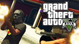 GTA 5 CHALLENGE - GUN GAME AT THE STRIP CLUB! (GTA V Online)