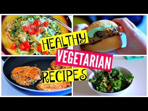 Healthy Vegetarian Dinner Recipes: Kale Salad, Burgers, Pasta
