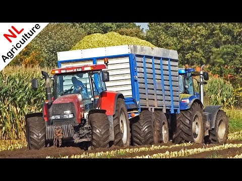 2x Claas Jaguar 950 | Harvesting mais in the mud | Berkhof | Heerikhuize | Netherlands.