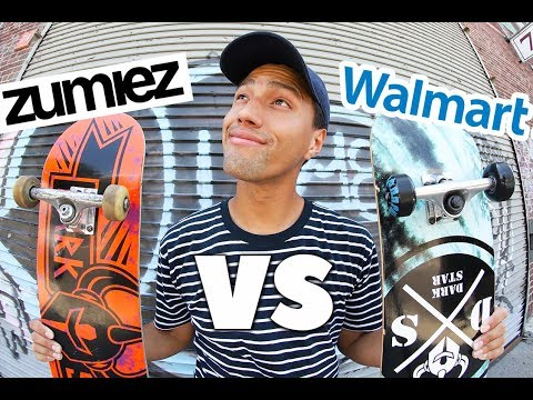 WALMART VS ZUMIEZ SKATEBOARDS | *Same Brand Different Shop!*