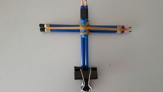 Mini Crossbow Yapımı (How To Make A Crossbow)