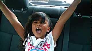 "Baby Kaely  7 years old rappin in car ""Bully Bully Bully"""