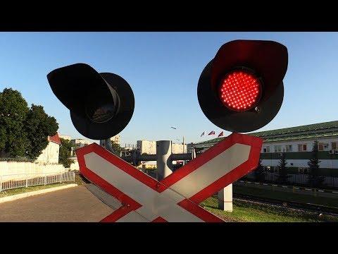 Ж/Д Светофоры и паровозы в сцепе сходят с кольца ВНИИЖТ Щербинка - 2017