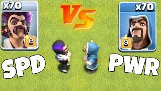 "TiMe to SEttLe tHis!! ""Clash Of Clans"" speed vs. Power!"