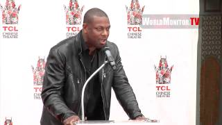Chris Tucker hilarious speech at Jackie Chan Hand & Footprint Immortalization Ceremony