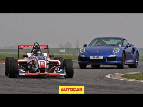 Porsche  911 Turbo S VS Formula 4 Car