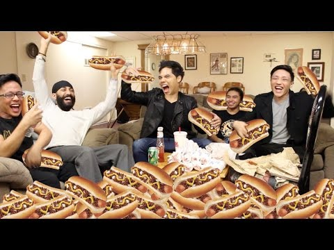 40 CHILI DOGS In 10 Min CHALLENGE!