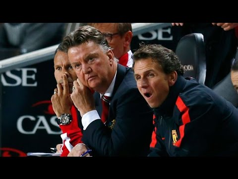 Louis van Gaal reacts to Manchester United defeat