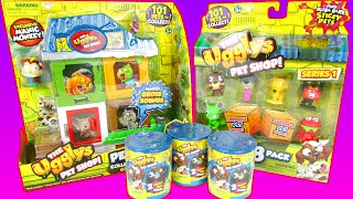 The Ugglys Pet Shop Pet Store & Surprise Packs Toy Review Unboxing Moose Toys